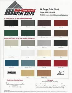 Rail Color Chart Metal Roof Kynar 500 Color Chart Online Roof Design