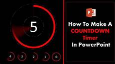 5 Minute Powerpoint Timer How To Create A 5 Second Countdown Timer In Powerpoint