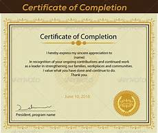 Certification Of Completion Template Free 36 Sample Certificate Of Completion Templates In Ai