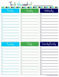 To Do Sheets Remodelaholic 36 Free Printable Organizers For A