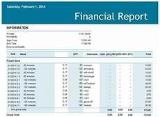 Finacial Report 5 Financial Report Templates Excel Pdf Formats