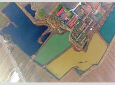 the sewage in a village of tianjin is different in colors