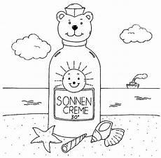 Malvorlagen Meer Und Strand Englisch Kostenlose Malvorlage Sommer Sonnencreme Am Strand Zum