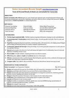Resume Format Accountant Senior Accountant Resume Format Templates At