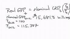 Formula For Nominal Gdp Calculating Real Gdp Youtube
