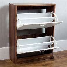 Vida Designs 2 Drawer Shoe Cabinet Cupboard Shoe Storage by Vida Designs Walnut And White 2 Drawer Shoe Cabinet Wilko