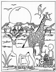 ausmalbilder afrikanische tiere afrika tiere