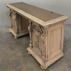 19th century flemish renaissance stripped sofa table desk