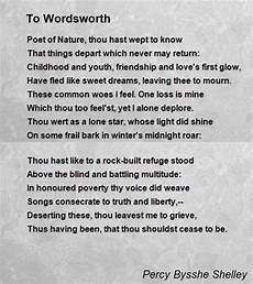 To Wordsworth Poem By Percy Bysshe Shelley Poem Hunter