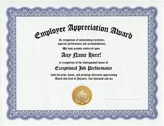 Appreciation Certificates For Employees Employee Appreciation Award Certificate Office Job Work