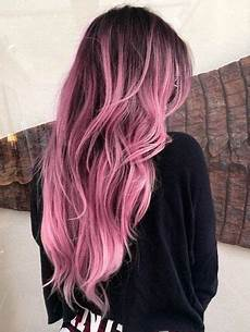 Black To Light Pink Ombre Hair Brown To Pink Ombre Hair Renegade Couture Pelo Rubio