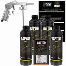 u pol up0820 raptor black truck bed liner kit w free spray
