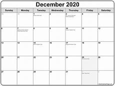 Free December 2020 Calendar December 2020 Calendar With Holidays