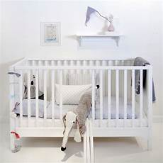6 in 1 baby toddler luxury cot bed in white nursery
