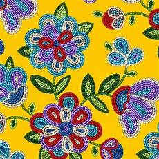 beadwork design fabric with yellow