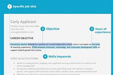 Objective For Job Resume Objective Examples And Writing Tips