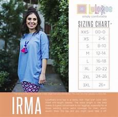 Sizing Chart For Lularoe Irma Irma Size Chart Https Www Facebook Com Groups