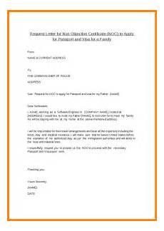 Noc Certificate Format Doc Noc Certificate For Passport Objection Letter Job
