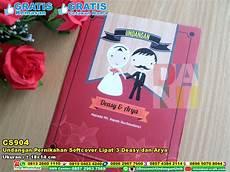 undangan pernikahan softcover lipat 3 deasy dan arya