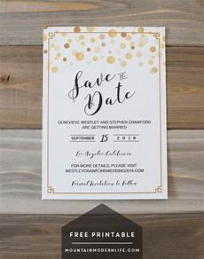 Free Downloadable Save The Date Templates Modern Diy Save The Date Free Printable