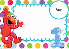 Birthday Invi Free Sesame Street 1st Birthday Invitation Template Drevio