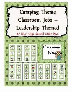 Camping Jobs Camping Classroom Job Chart By Eller Teachers