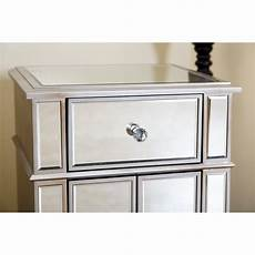 house of hton stine mirrored accent cabinet wayfair