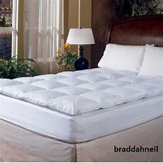 king size feather bed mattress topper pad cover