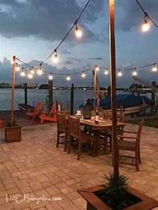 Garden String Lights Ideas Diy Outdoor String Lights On Poles H2obungalow