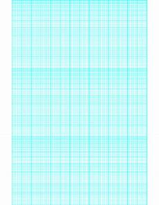 3 Cycle Semi Log Graph Paper Printable Semi Log Paper 70 Divisions 5th 10th Accent By