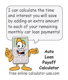Car Payoff Calculator Auto Loan Payoff Calculator For Calculating Early Payoff