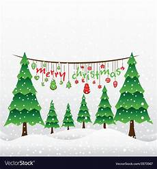 Merry Christmas Greeting Card Design Creative Merry Christmas Greeting Card Design Vector Image