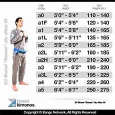 Gracie Barra Gi Size Chart 93 Brand Gi Sizing Chart Bjj Jiu Jitsu