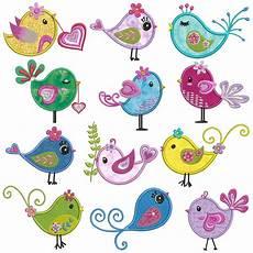 Applique Designer Diva Birds Machine Applique Embroidery Patterns 12