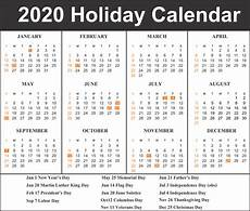 2020 Calendar With Holidays Printable Free Blank Printable Calendar 2020 Template In Pdf Excel