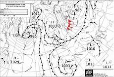 Surface Analysis Chart Of The Uk Meteorological Office On