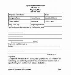 Free Construction Proposal Template Pdf Sample Construction Proposal Template 15 Free Documents