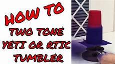 Red S Custom Design Diy Two Tone Custom Yeti Or Rtic Tumbler Amazing Youtube
