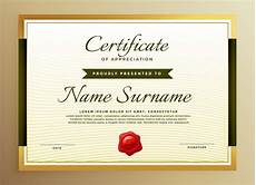 Token Of Appreciation Certificate Premium Golden Certificate Of Appreciation Template