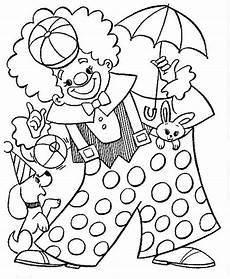clown ausmalbild tiere kinder gratis ausdrucken children