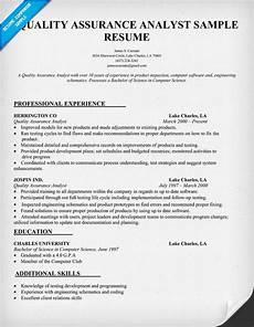 Quality Assurance Resume Samples Quality Assurance Analyst Resume Sample Resumecompanion