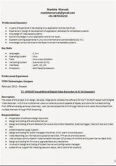 Types Of Resume Format Sample Different Types Of Resume Formats