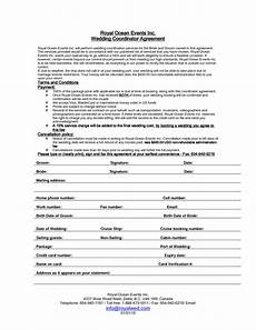Event Planner Agreement Wedding Planner Contract Sample Templates Event Planning