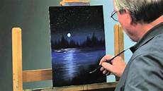 How To Paint A Light Color Over A Dark Color Paint Along How To Paint A Night Scene In Oils Part 2