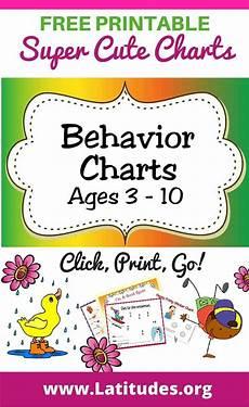 Free Printable Behavior Charts Free Printable Behavior Charts Ages 3 10 Acn Latitudes