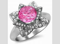 Diamond Flower Rings and Things : Pink Sapphire and