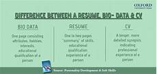 Resume And Biodata Difference Difference Between A Cv Resume And Bio Data Eage Tutor
