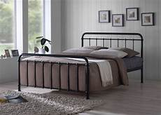 time living miami 4ft6 black metal bed frame by