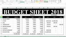 How To Make A Budget Sheet On Excel 70 How To Make Budget Sheet In Excel Hindi Youtube