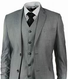 Light Grey 3 Piece Suit Mens Slim Fit Suit Light Grey Stitch Trim 3 Piece Work